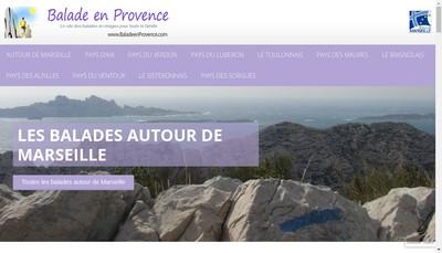 Site internet de Balade en Provence