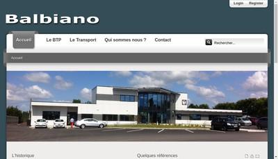 Site internet de Entreprise Balbiano SA