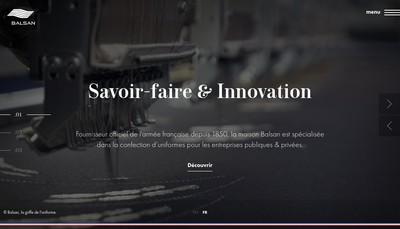 Site internet de Societe de Confection Balsan