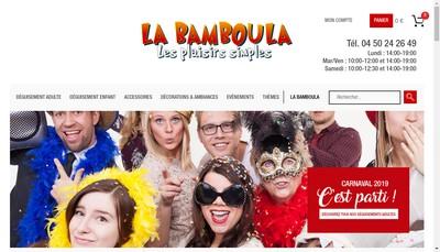Site internet de La Bamboula