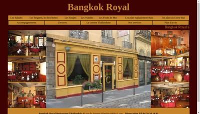 Site internet de Bangkok Royal