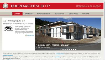 Site internet de Barrachin BTP