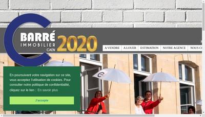 Site internet de C Barre Immobilier