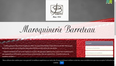 Site internet de Maroquinerie Barreteau