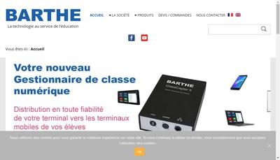 Site internet de Barthe Industrie