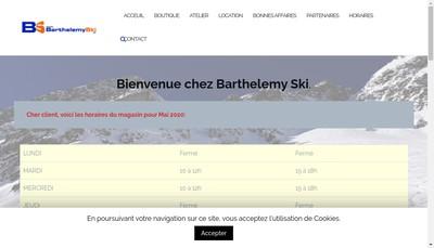 Site internet de Barthelemy Skis