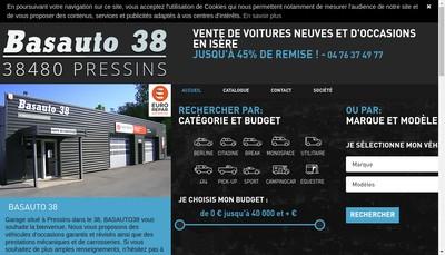 Site internet de Basauto 38