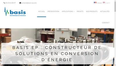 Site internet de Basis Electronique de Puissance