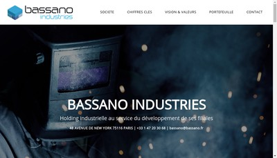 Site internet de Bassano Industries