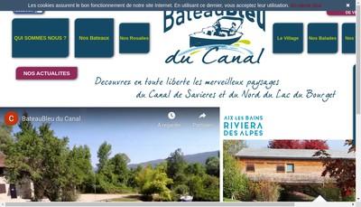 Site internet de Bateau Bleu du Canal