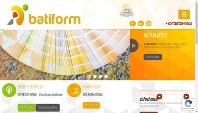 Site internet de Batiform Aquitaine