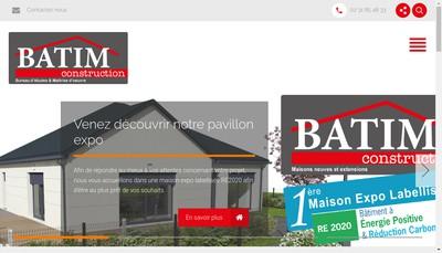 Site internet de Batim Construction