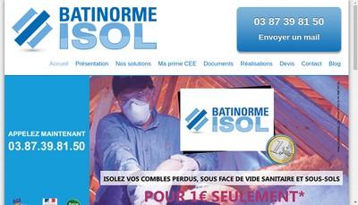 Site internet de Batinorme ' Isol