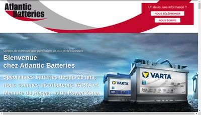 Site internet de Batteries Energie de l'Ouest
