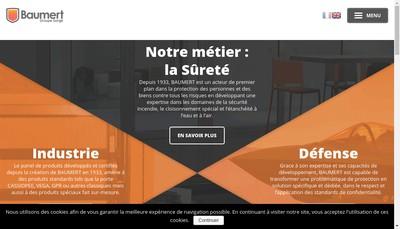 Site internet de Etablissements Robert Baumert et Fils