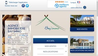 Site internet de Bay'Immo