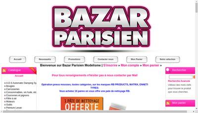 Site internet de BAZAR PARISIEN MODELISME
