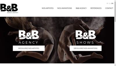 Site internet de Bb Dance Agency