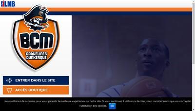 Site internet de Bcm Gravelines-Dunkerque Grand Littoral