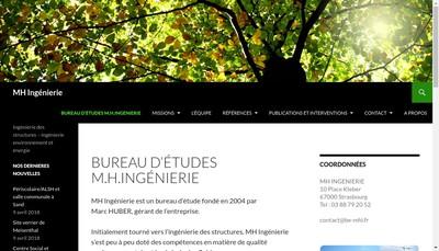 Site internet de MH Ingenierie