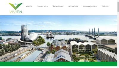 Site internet de Bureau d'Etudes Vivien