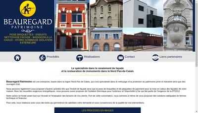 Site internet de Beauregard Patrimoine