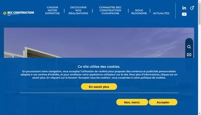Site internet de Bec Construction Champagne