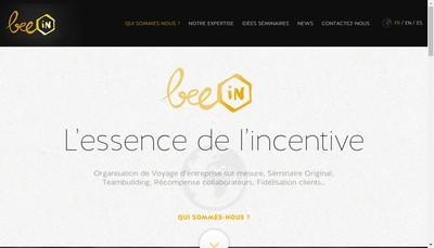 Site internet de Bee Incentive