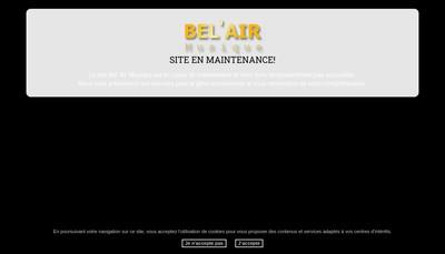 Site internet de Bel'Air Musique