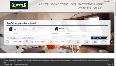 Site internet de Belletoile Immobilier