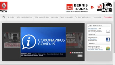 Site internet de Bernis Trucks Lease