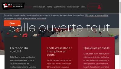 Site internet de Beta-Bloc Escalade