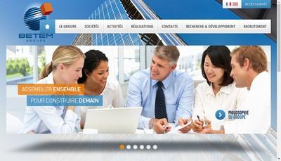Site internet de Betem Ingenierie