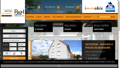 Site internet de Immobiz