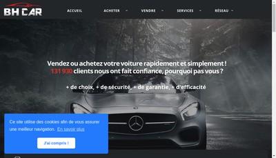 Site internet de Bh Car Bergerac