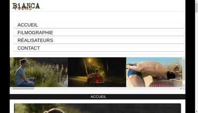 Site internet de Bianca Films