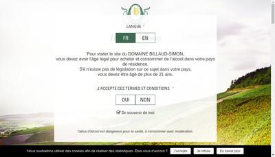 Site internet de J Billaud-Simon-Dom Maison Blanche