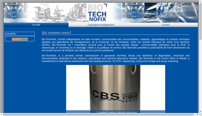 Site internet de Bio Technofix