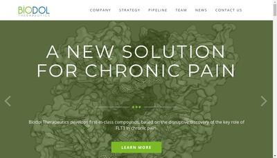 Site internet de Biodol Therapeutics