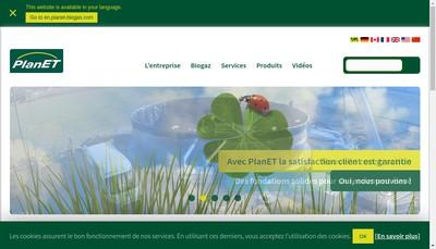 Site internet de Biogaz Planet France