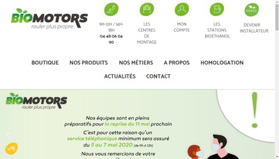 Site internet de Biomotors