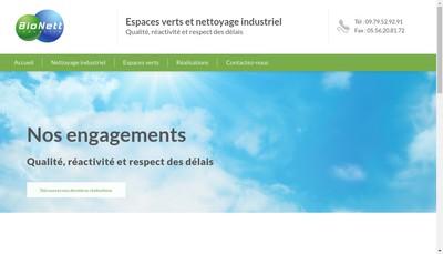 Site internet de Bionett Industrie