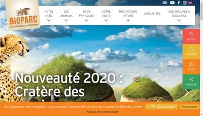 Site internet de Bioparc Doue la Fontaine