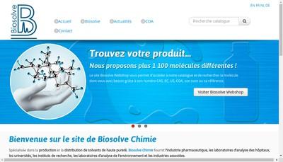 Site internet de Biosolve - Chimie