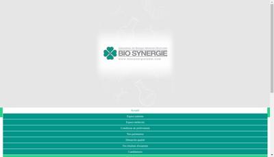 Site internet de SELARL Biosynergie