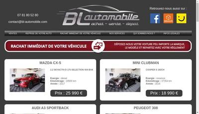 Site internet de Bl Automobile