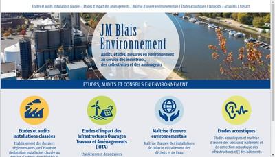 Site internet de Jm Blais Environnement