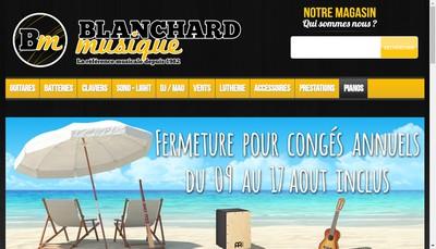 Site internet de Blanchard Musique