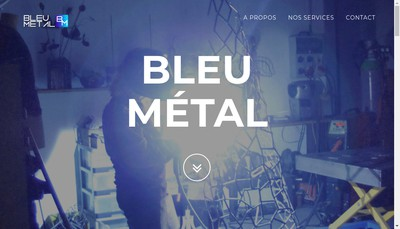 Site internet de Bleu Metal