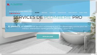 Site internet de Bl Plomberie